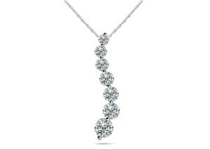 Classic Diamond Journey Necklace