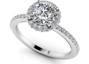Enchanting Halo Diamond Engagement Ring